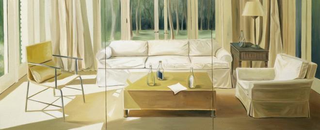 4-2_남경민_따뜻하고 쓸쓸하고_05[1]. 실내풍경2(Indoor scenery2), 2000년, Oil on canvas, 220x91cm