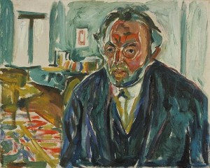 에드바르 뭉크, 스페인 독감을 앓고 난 후의 자화상 (1919)