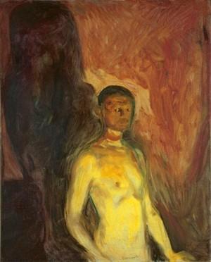 에드바르 뭉크, 지옥에서의 자화상 (1903)